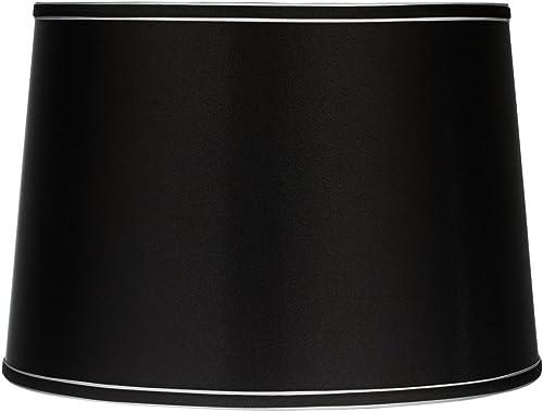 Sydnee Collection Satin Black Drum Shade 14x16x11 Spider – Brentwood
