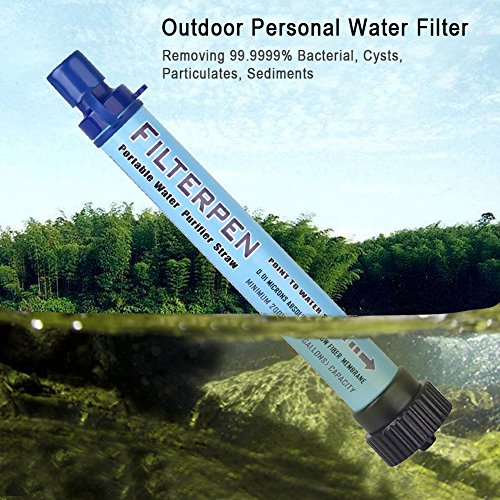 Portable Water Filter, Epress Personal Water Purifier 2000L Emergency Camping Equipment