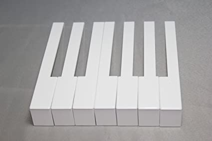 Extra Wide Piano Keytops w//Fronts Long Head Full Set Of 52 Gloss White w//Tool
