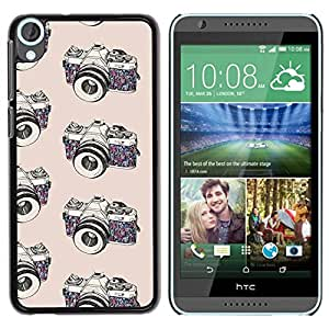 PC/Aluminum Funda Carcasa protectora para HTC Desire 820 camera photo photographer black white / JUSTGO PHONE PROTECTOR