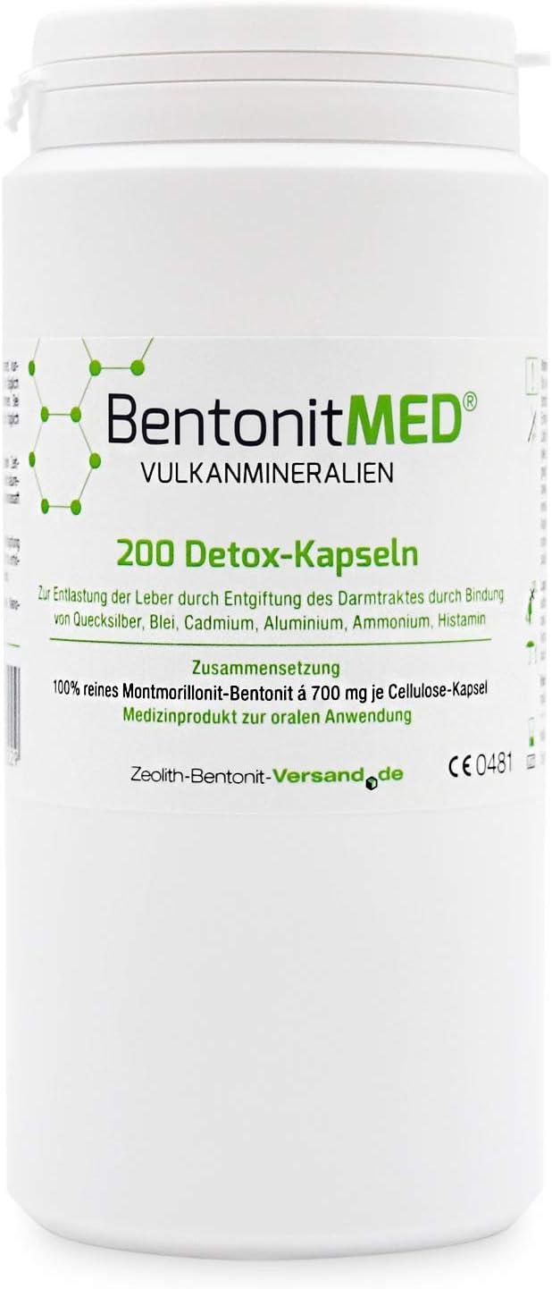 Bentonita MED 200 Cápsulas desintoxicantes