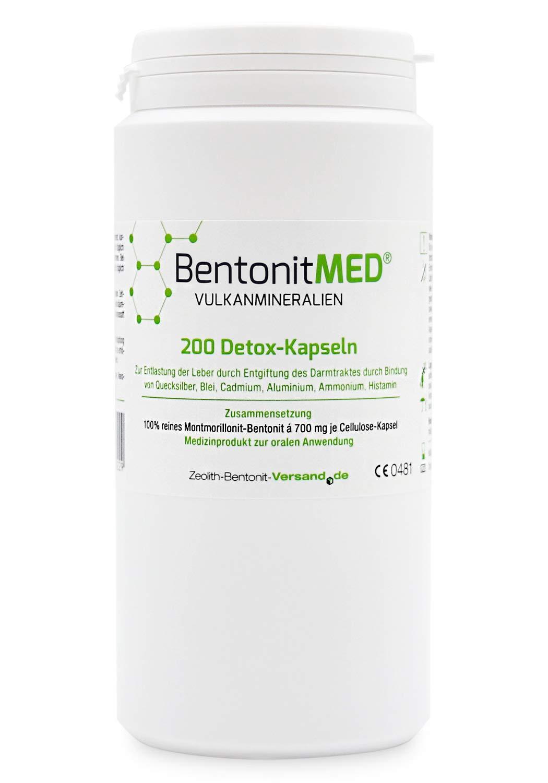 Bentonite MED 200 Detox Capsules, Medical Device