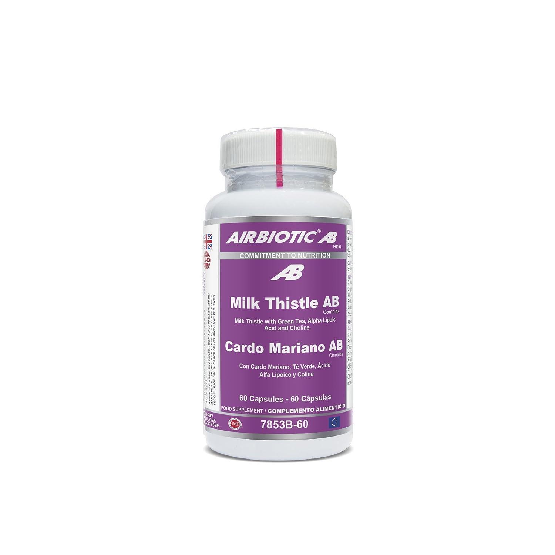 Airbiotic AB Cardo Mariano AB Complex, Cápsulas hierbas para la función hepática, 60 cápsulas: Amazon.es: Salud y cuidado personal