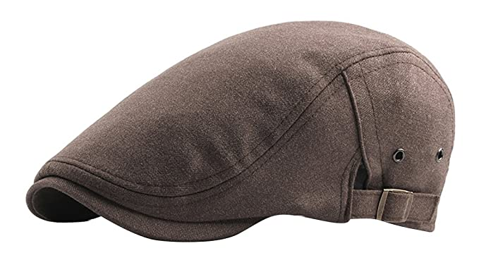 JYR Gorra de algodón de moda gorra plana Inglaterra Gorras de visera de café vintage adelante