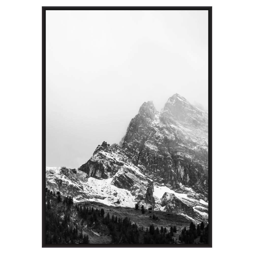 Frame It Easy 16 1/2 x 23 1/2 Satin Black Metal Frame Profile #93