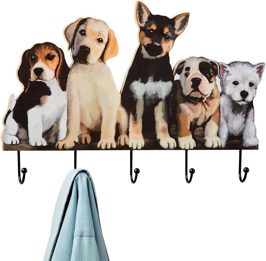 Cute Dog Lead//Leash Hanger Key Hook Coat Towel Holder Metal Rack Door Wall Hooks