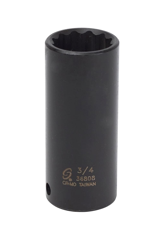 Sunex 36808 3/8-Inch Drive 3/4-Inch 12-Point Deep Impact Socket Sunex International