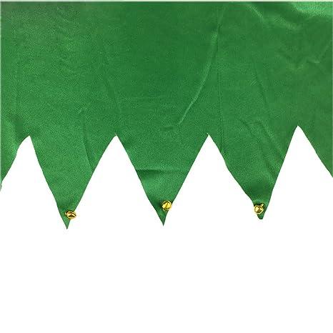 ocharzy Christmas Cloth Apron Adjustable Server Apron Gift for Women Santa Claus