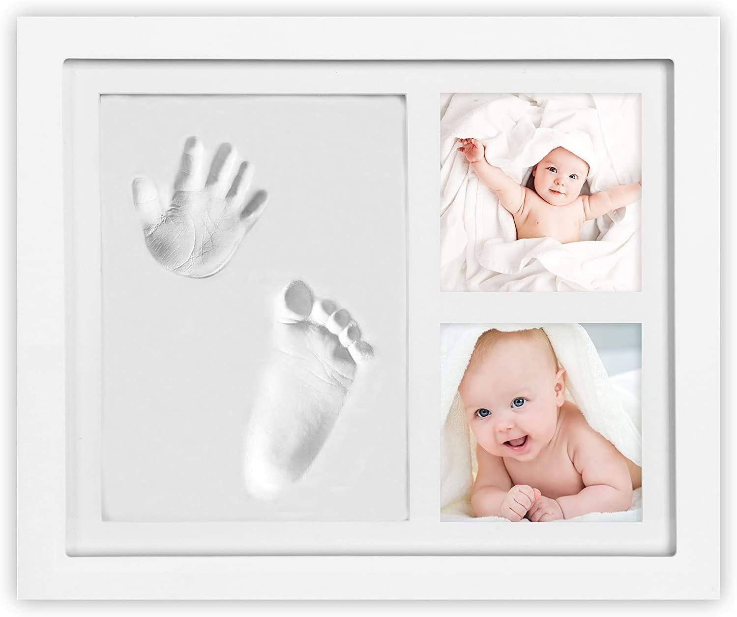 MARCO Huella de manos y pies para bebés Idea de regalo para recién nacidos y madres Huellas de arcilla para bebés Kit de kit de manos fundidas