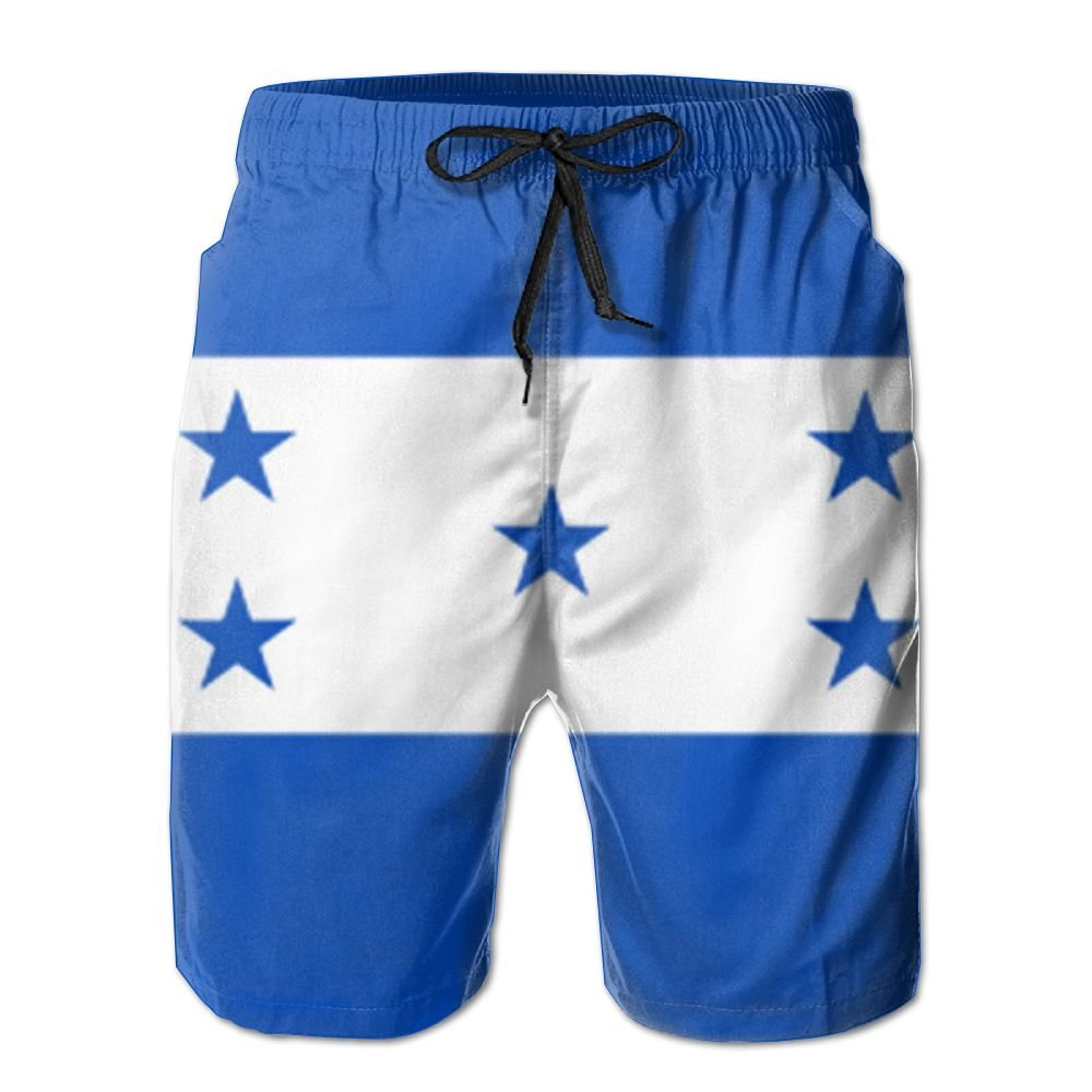 Horizon-t Beach Shorts Honduran Flag Mens Fashion Quick Dry Beach Shorts Cool Casual Beach Shorts
