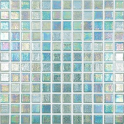 Recycled Glass Mosaic - Glass mosaic tile. Shell Series 1x1 (Single Sheet, Crystal)