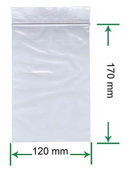 1.000 Druckverschlussbeutel 120 x 170 mm PE-Beutel 50 µ