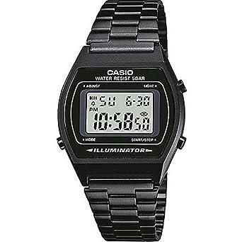 51067c7bbb CASIO カシオ b640wb-1a Mens ブラックメンズ レディース メタルバンド Black Digital Watch デジタルウォッチ