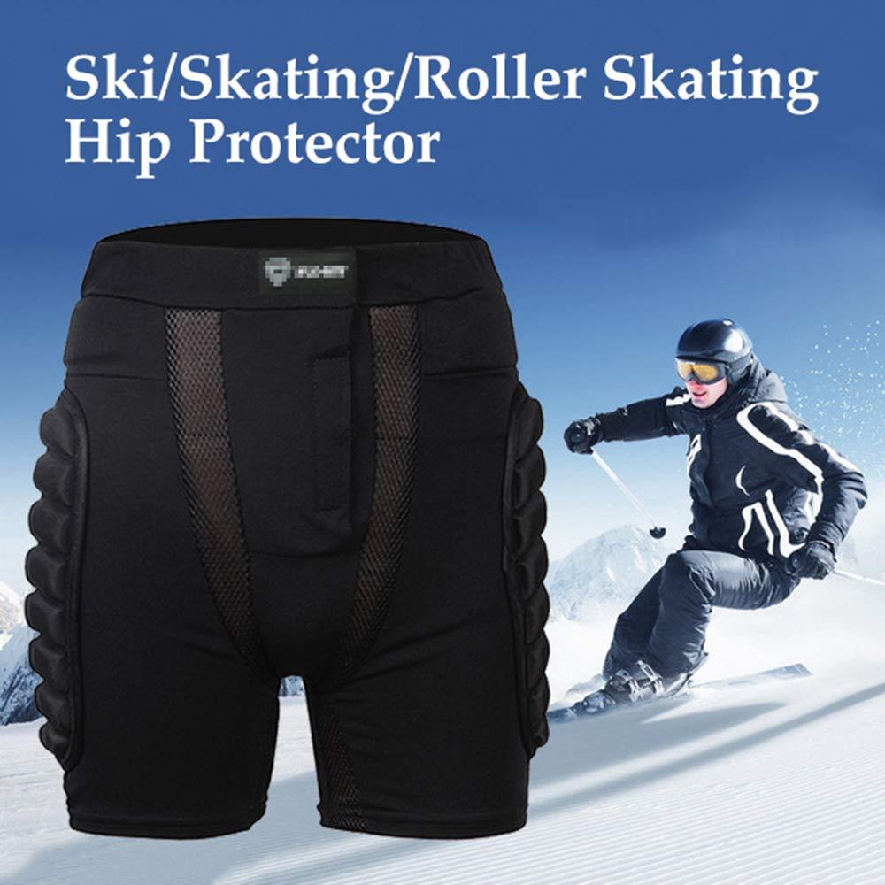 Doucow Pantalones Cortos Protectores Acolchados Protecci/ón de Cadera Pantalones Cortos de protecci/ón contra Impactos 3D para Hombres y Mujeres Equipo de protecci/ón para sobre Snowboard