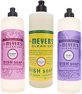 product image for Mrs. Meyer's Clean Day Limited Edition Spring Floral Collection Set of 3 Liquid Dish Soaps Bundle (Lilac, Peony, and Honeysuckle)