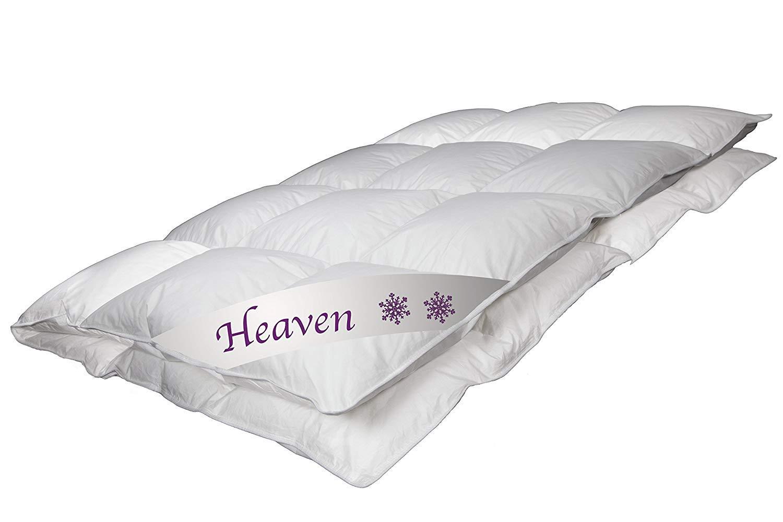 Betten Jumbo Luxus Daunendecke Heaven Made in Germany Ganzjahresdecke 135x200 cm mit 720 g Füllung und 100% weißen Gänsedaunen Klasse 1