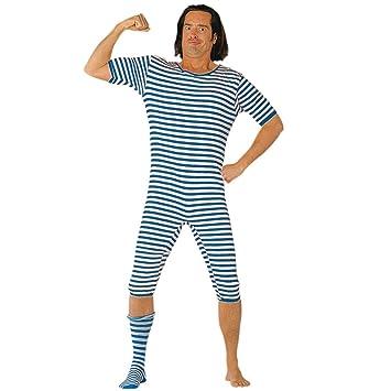 Blue And White Bad Taste Curling Swim Suit Stag Night Jga Costume