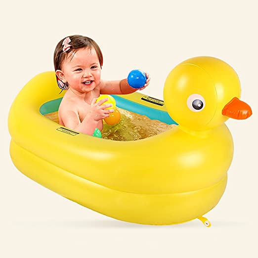 Tub Duck Bath Inflatable Safety Toddler Baby Newborn Shower Bathing Padded Fun