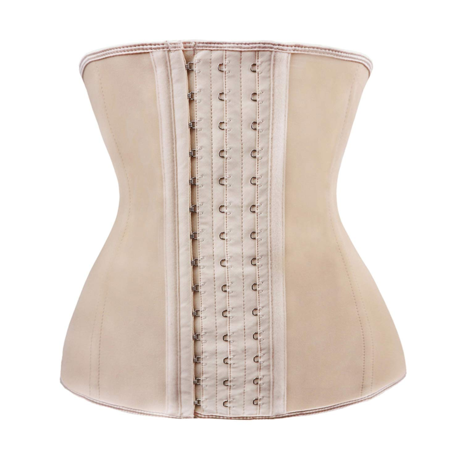 3ebbd8416a Amazon.com  Women Latex Body Shaper Shapewear Waist Trainer Lose Weight  Burning Slim Belt Corset Bustier