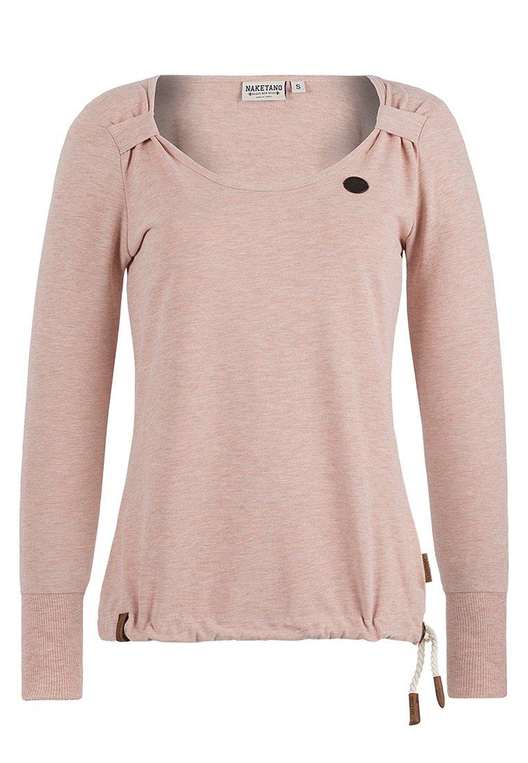 Naketano Women's Sweatshirt Big Dudelsack Flavour Pastel Pink Melange, L