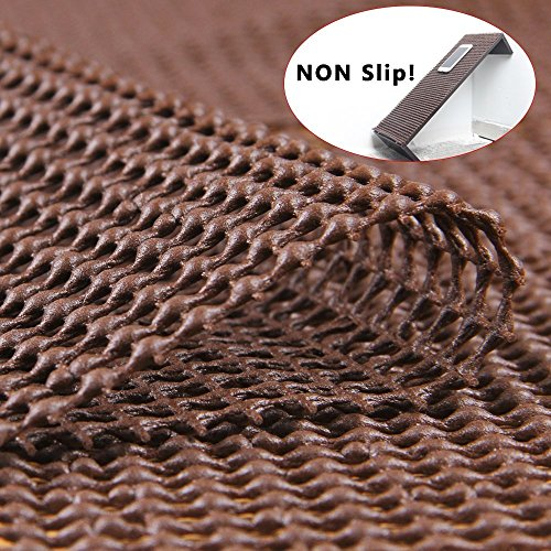 Eco Friendly Rug Pads - Cozy Line Home Fashions Non-Slip Area Rug Pads 8' X 10' for Hardwood Floors - Strong PVC Rug Gripper Eco Friendly and Water Resistant
