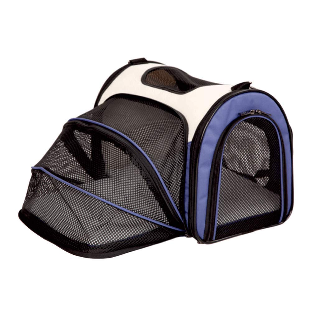 bluee S402530cm bluee S402530cm TIKEN Pet Outing Package Cat Bag Dog Bag Foldable Backpack Breathable Washable Pet Bag Outgoing Portable Dog Bag,bluee-S4025  30cm