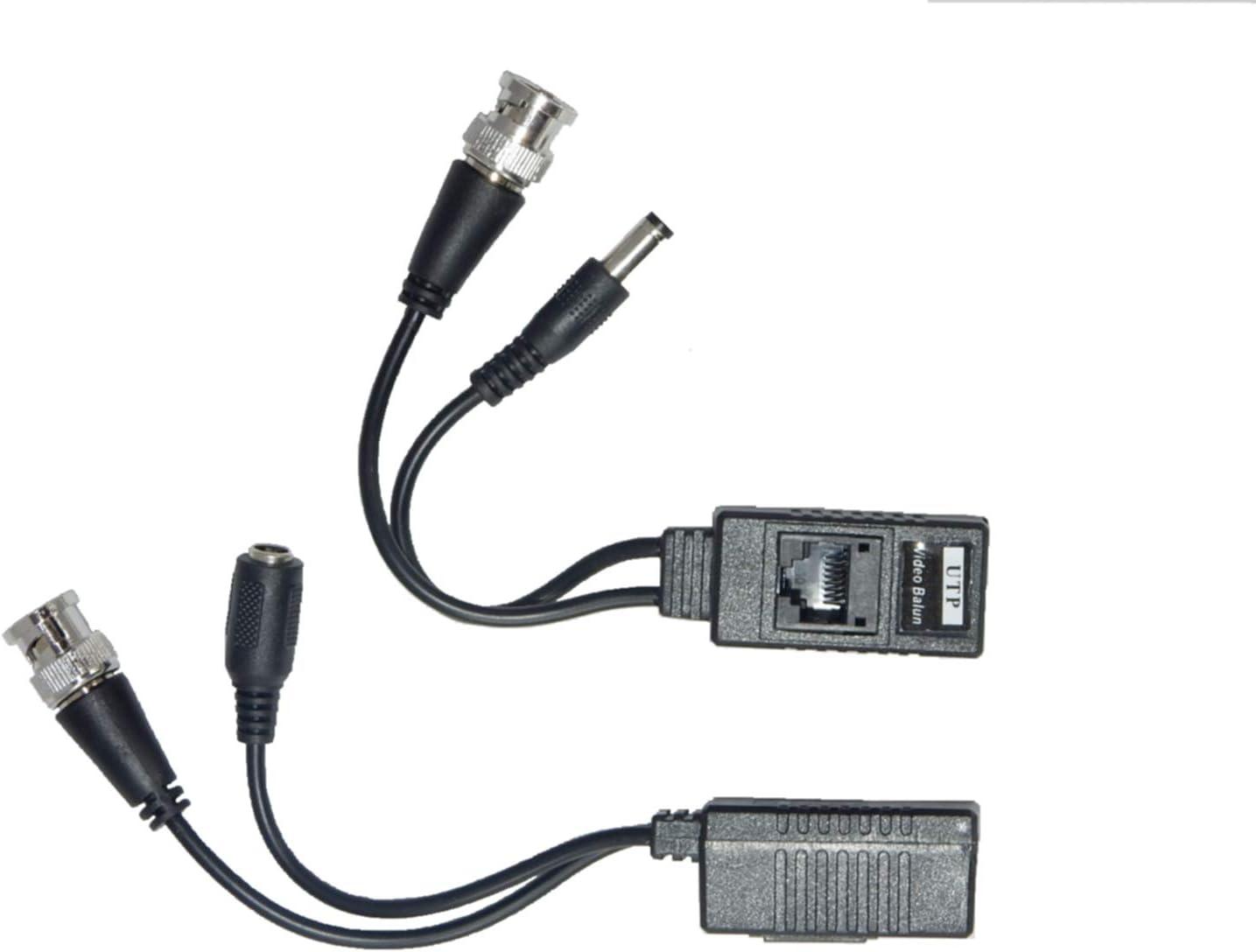 CCTV - Balun de vídeo con Conector BNC coaxial a Conector RJ45: Amazon.es: Electrónica