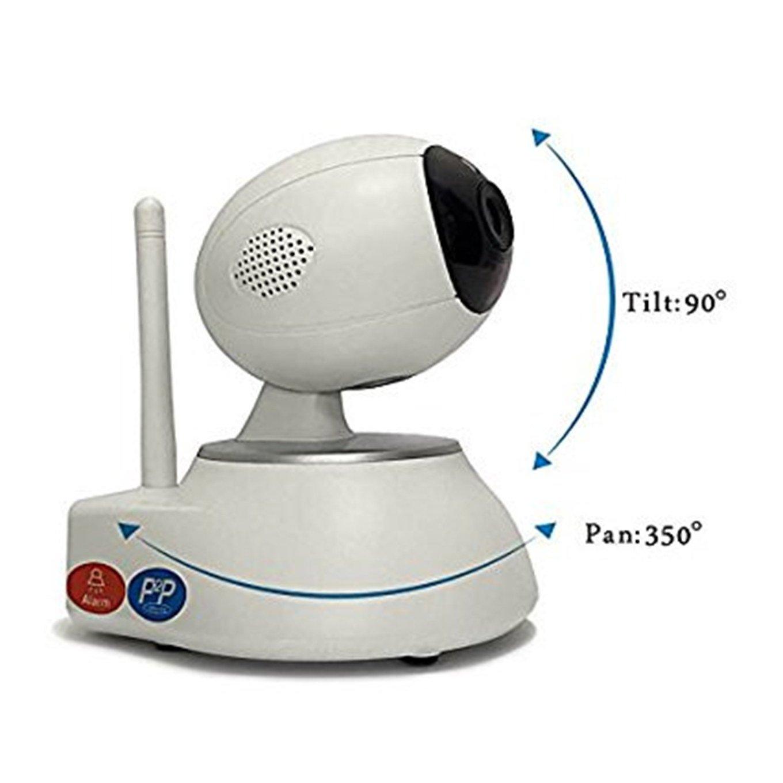 Cámara del detector de movimiento, bebé / anciano / monitor del animal doméstico alarma sin hilos de 720p HD / detección móvil / reducción del ruido del eco ...