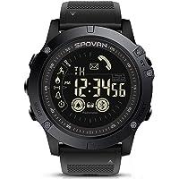Buiten Sporten Horloge voor Heren Bluetooth Smart Horloge 50M Waterbestendige Stappenteller Calorieteller Stopwatch…