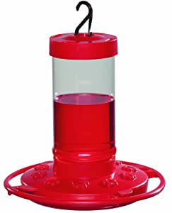 First Nature 993051-546 16 oz. Hummingbird Feeder, Red