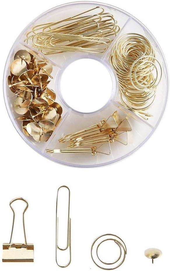 Drucknadeln Vorrichtungsklammern Color : Gold-1 Gadgets zur Dokumentenklassifizierung B/üroklammern Metallverarbeitung