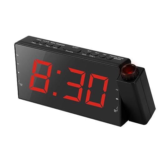 Winbang Reloj del proyector, proyector Digital Radio Reloj ...
