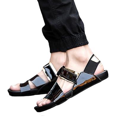 Bliefescher Sandalen Herren Sport und Outdoor Klettverschluss Trekking Schuhe