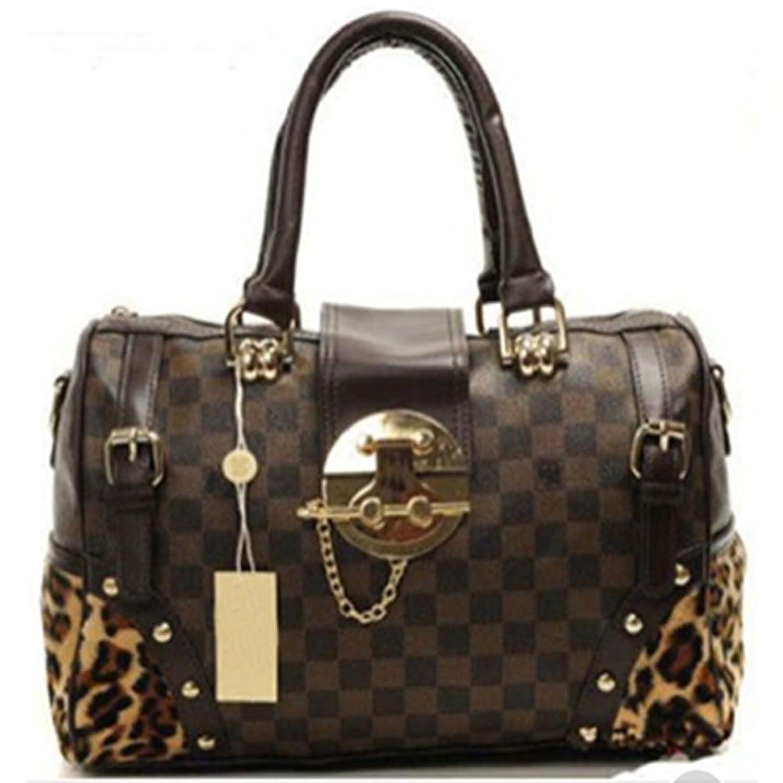 AlohaGirl Cute Handbags Brown Leopard