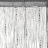 Norbi Beaded Decorative String Curtain Chain Beads Panel Room Window Curtain Tassel Divider Drape (Gray)