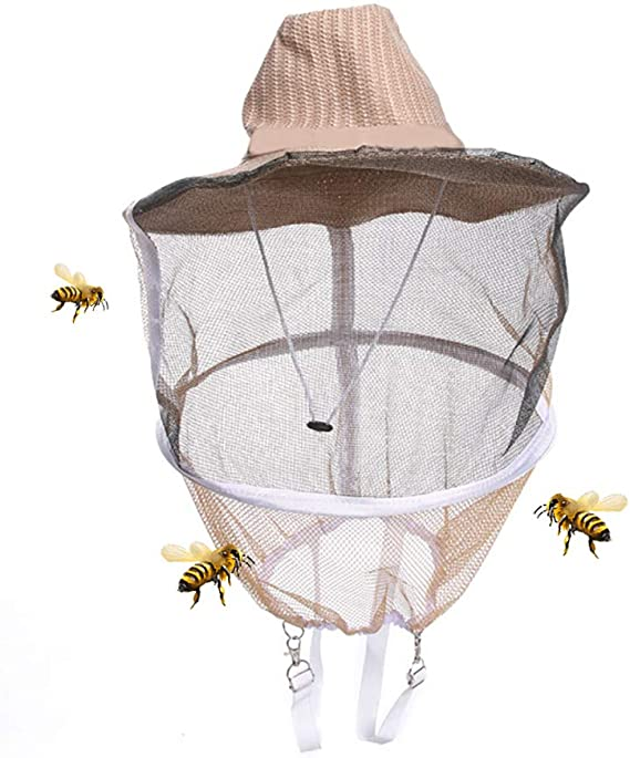 HunterBeeSpare bee Beekeeping hat and Veil//Beekeeper Head net//Out Door Net hats