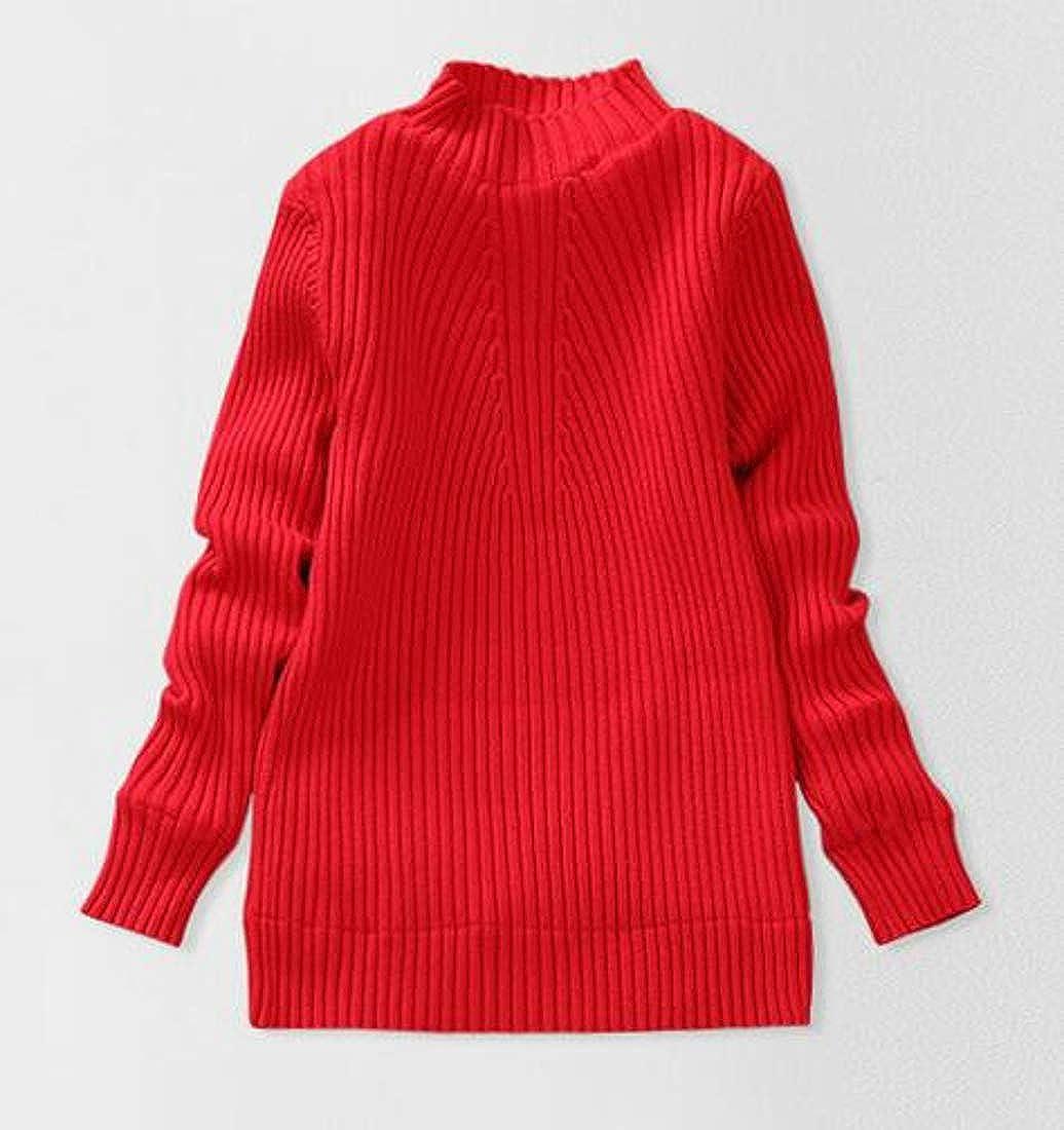 GloryA Big Girls Turtleneck Knitted Fashion Thick Slim Pullover Sweaters