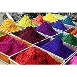 Akbari Traders Rangoli Colours (Saw Dust), Multicolored Set of 10 Pkts (Approx 100 Gms Each)