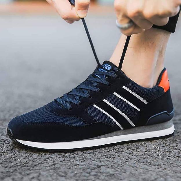 Los Hombres Zapatillas Zapatos Ocasionales Respirables Atan ...