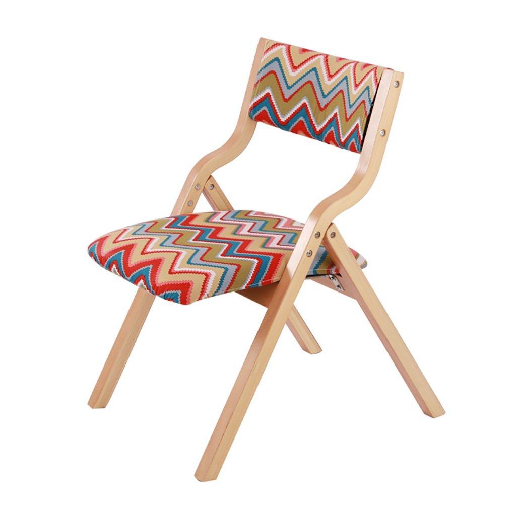 折りたたむ椅子 ダイニングテーブルチェアシンプルなスタイリッシュウッドダイニングチェアモダンな快適なバックチェアホーム折りたたみデスクチェア 折りたたみチェア (色 : M) B07BS78NYQ M M