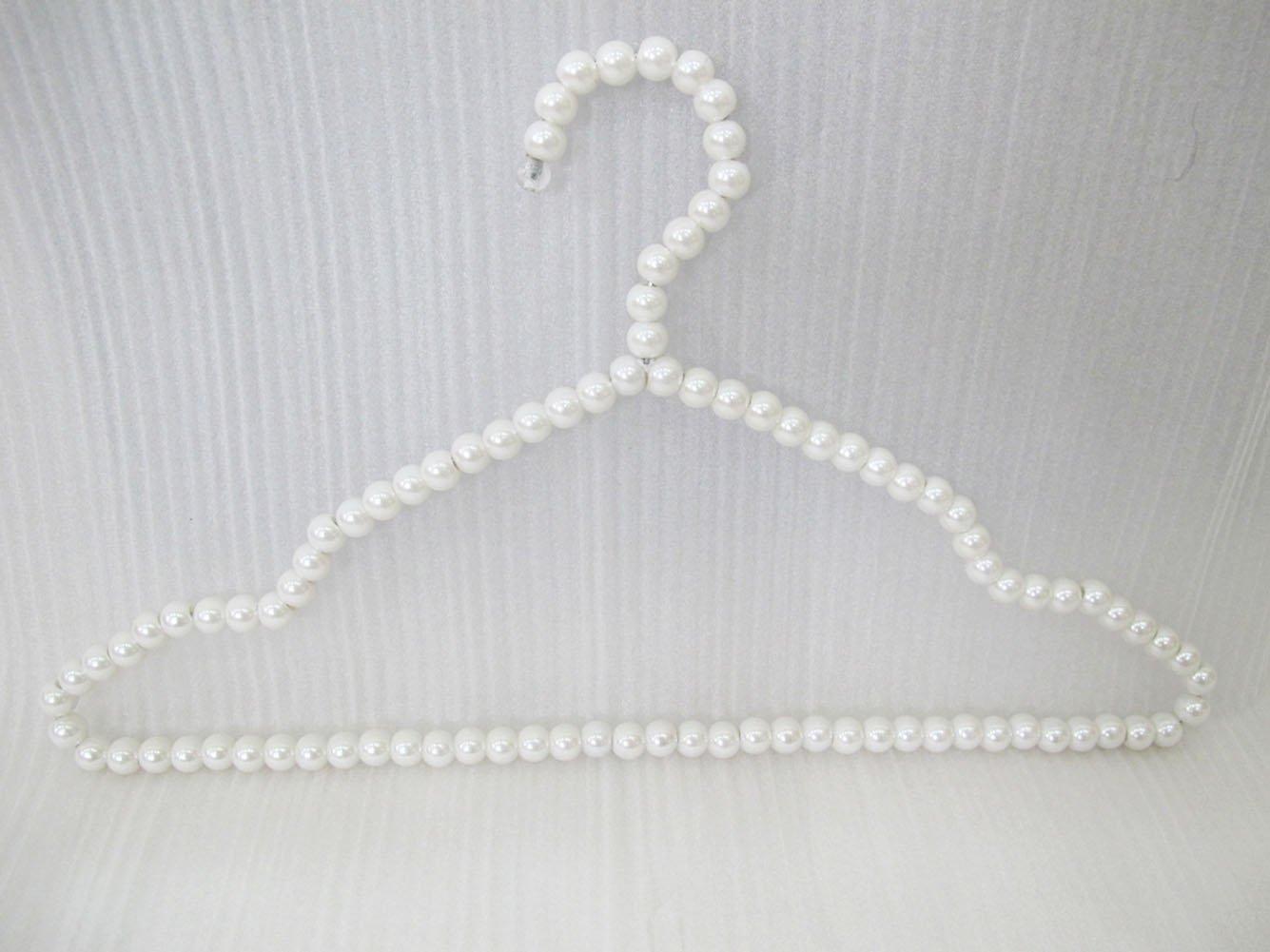 DgTech New10 Pcs ABS Plastique Perle Bow cintres pour Adultes Vêtements Jupes Mariage Robe Manteau Elegant Suspendus Crochet 40cm