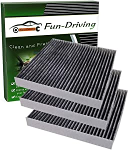 3 Pack FD134 Cabin Air Filter,Replacement for 80292-SDA-A01,80292-SEC-A01,80292-T0G-A01