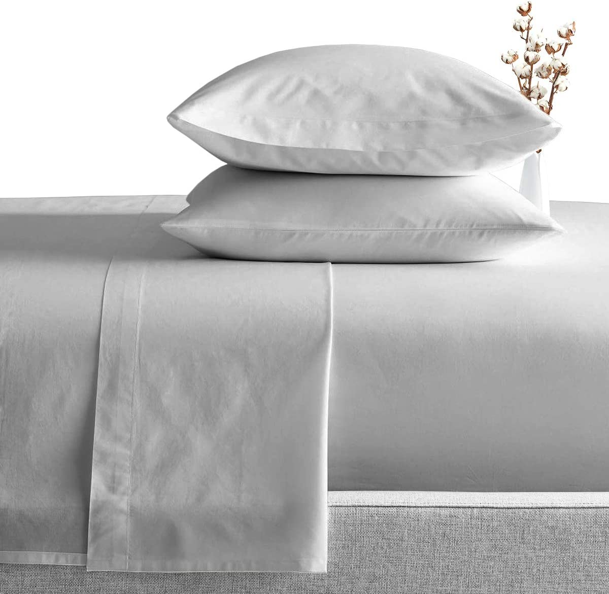 US Luxury Bedding Items 1000 Thread Count 100/% Egyptian Cotton Ivory Solid