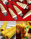 5pcs/lot Baking Cones Stainless Steel Spiral