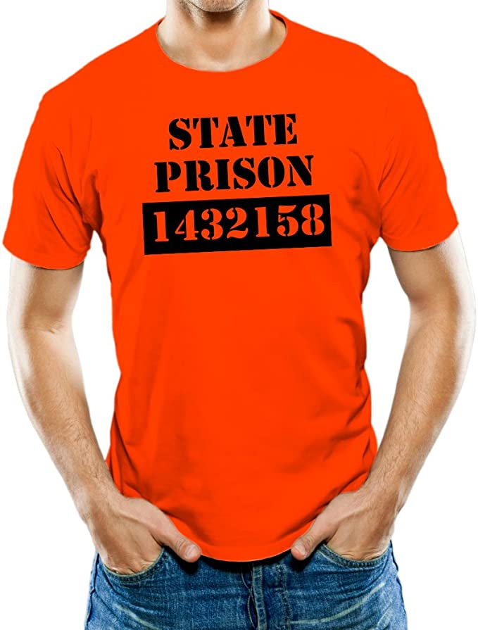 Universal ropa hombres de estado Cárcel Preso Camiseta de broma: Amazon.es: Ropa y accesorios