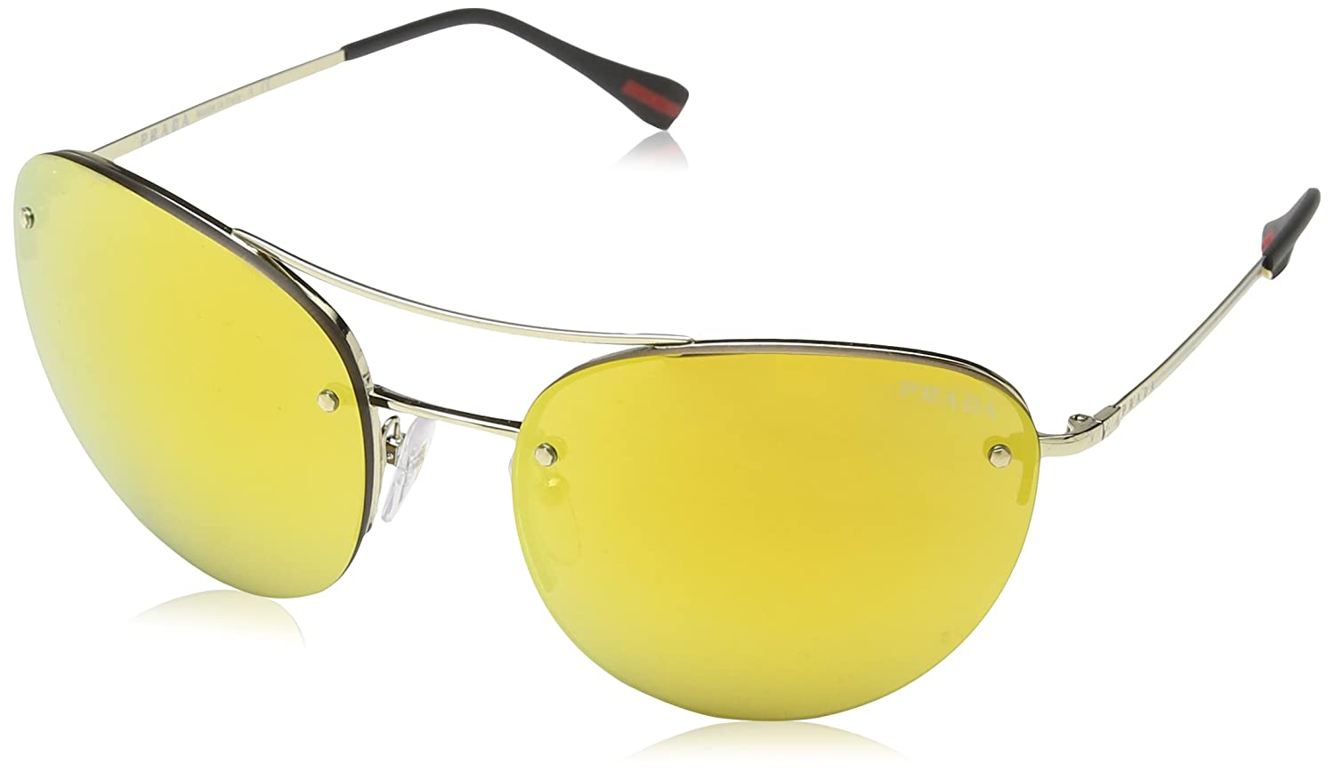 2a1dda95e0 Amazon.com  Prada Sport PS 51RS ZVN5N0 Pale Gold Sunglasses  Prada Sport   Clothing