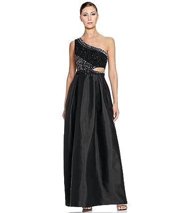 Aidan Mattox Womens Embellished Cut Out Evening Dress At Amazon