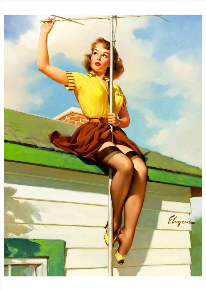 GIL ELVGREN VINTAGE RETRO PIN UP GIRL A4 GLOSSY ART PHOTO POSTER PRINT NEW #11