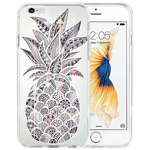 sale retailer d5853 80bd3 for iPhone 6s Plus Case for iPhone 6 Plus Case TPU Non-Slip High Definition  Printing Personalized Graffiti Pineapple