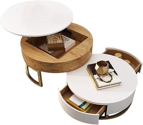 Homary Round Coffee Table White